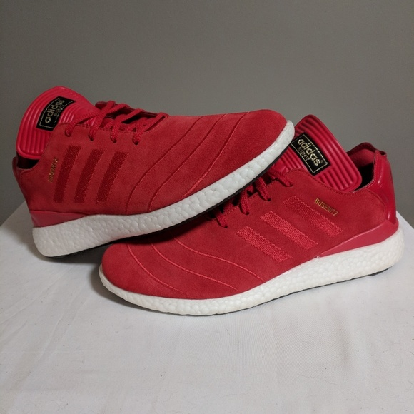 adidas Busenitz Pure Boost Red Suede |